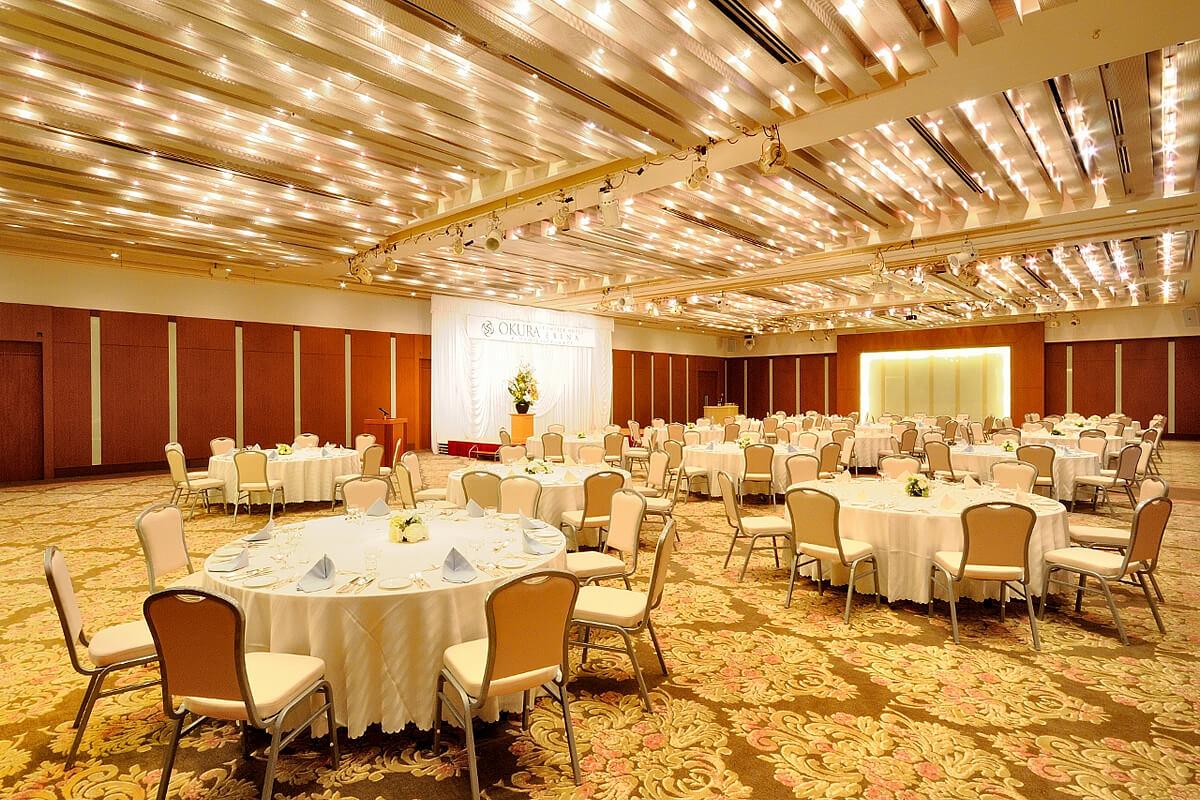 大宴会場 ラ・ローズ|宴会場|レンブラントホテル海老名【公式】レンブラントグループホテル
