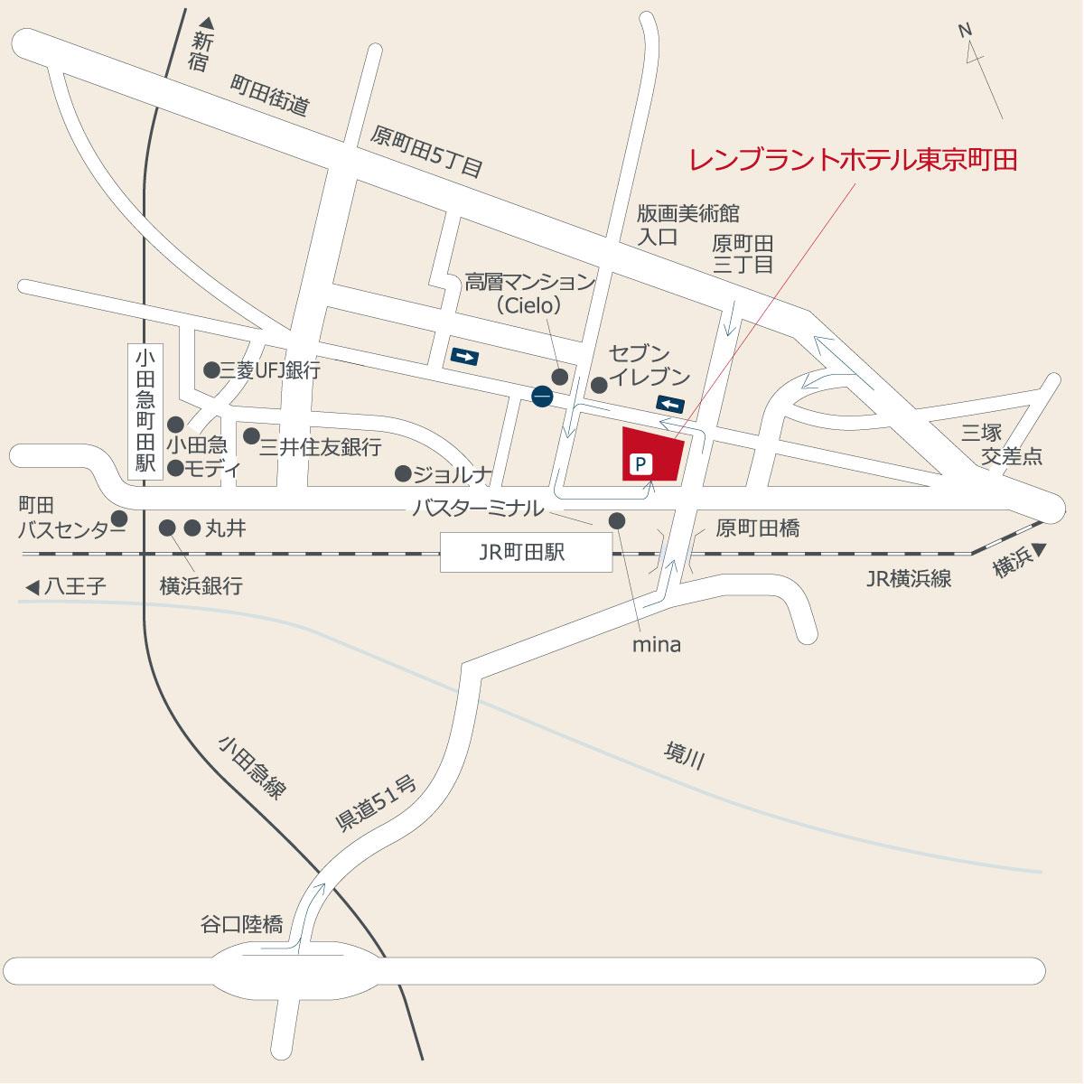 お車でのアクセス|交通のご案内|レンブラントホテル東京町田【公式】