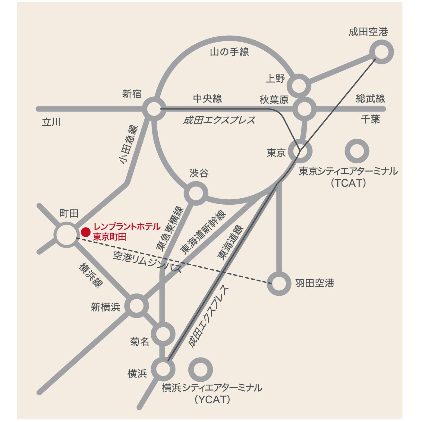 電車でのアクセス|交通のご案内|レンブラントホテル東京町田【公式】
