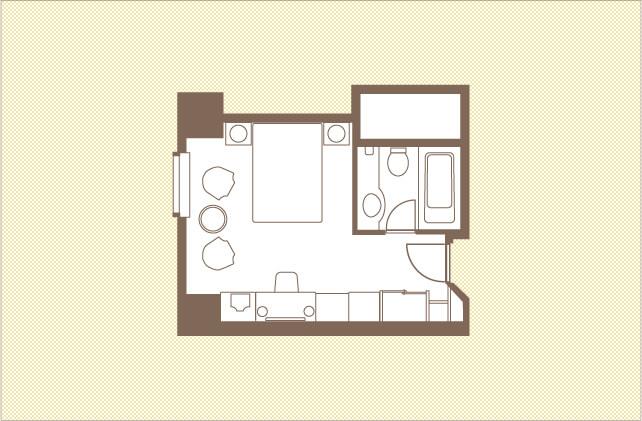 デラックスダブル|ダブルルーム|レンブラントホテル大分【公式】レンブラントグループホテル
