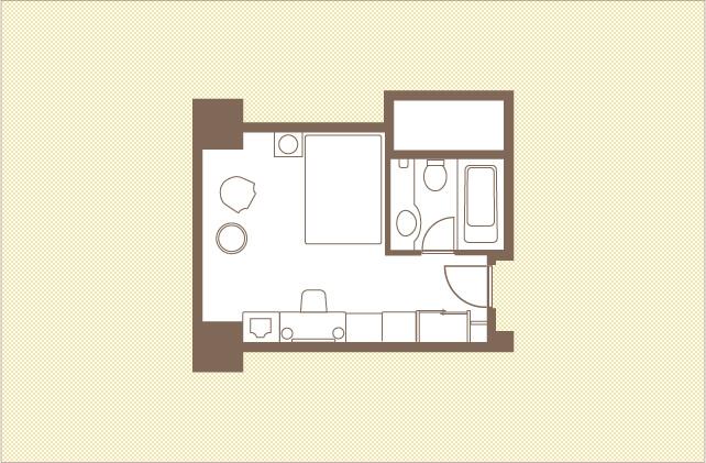 デラックスシングル|シングルルーム|レンブラントホテル大分【公式】レンブラントグループホテル