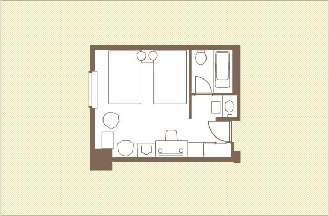 スタンダードツイン|ツインルーム|レンブラントホテル大分【公式】レンブラントグループホテル