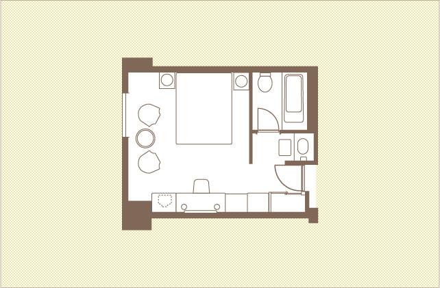 スーペリアクイーンダブル ダブルルーム レンブラントホテル大分【公式】レンブラントグループホテル