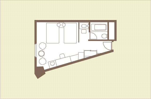 スーペリアツイン|ツインルーム|レンブラントホテル大分【公式】レンブラントグループホテル