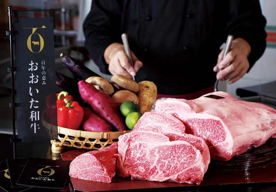 【新ブランド おおいた和牛】<br>鉄板焼「おおいた和牛ステーキコース」 フィレとロースを贅沢に食べ比べできます|鉄板焼 山茶花|レンブラントホテル大分【公式】レンブラントグループホテル