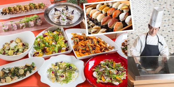【Four Leaf Garden10月ディナー】シェフ厳選 秋のSPECIALブッフェ</br>シーフードと肉の鉄板焼!|ランチ|レンブラントホテル大分【公式】レンブラントグループホテル