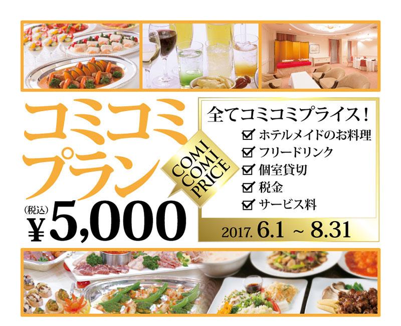 コミコミプラン【全て込みで¥5,000】