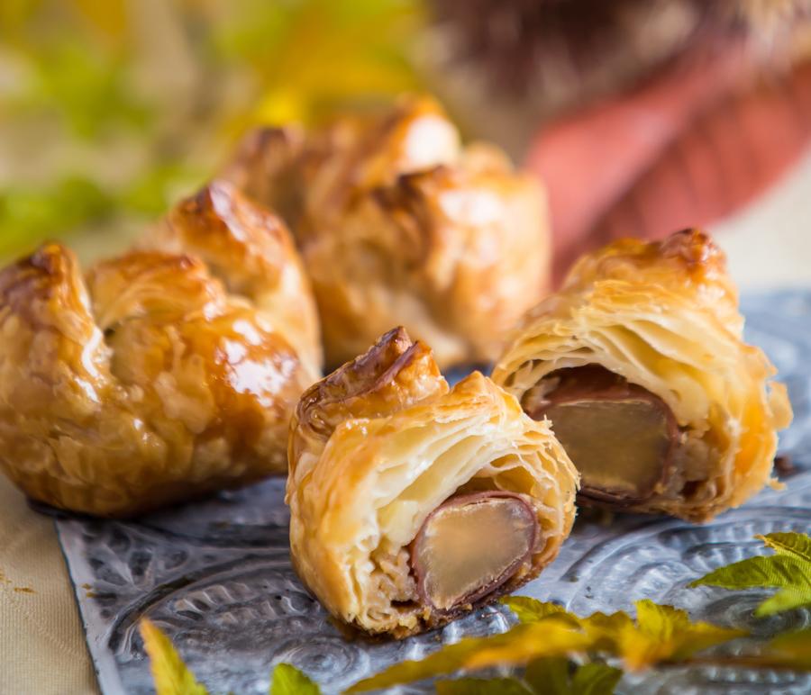 【和栗のマロンパイ】<br />パティシエ自信作<br />和栗と香り高いパイの上質な味わい!