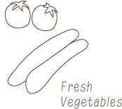 近郊で採れたみずみずしい野菜