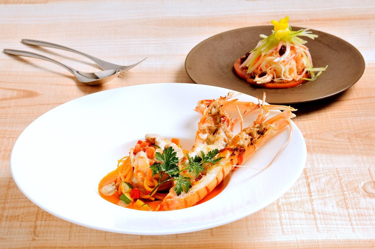 手長海老のパスタ【恵美菜ランチ】