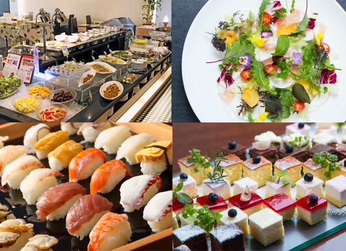 【4月ランチブッフェ】<br />新生活のスタートはフォーリーフガーデンから!洋食、中華、寿司やサラダetc・・・約40種のメニュー食べ放題!