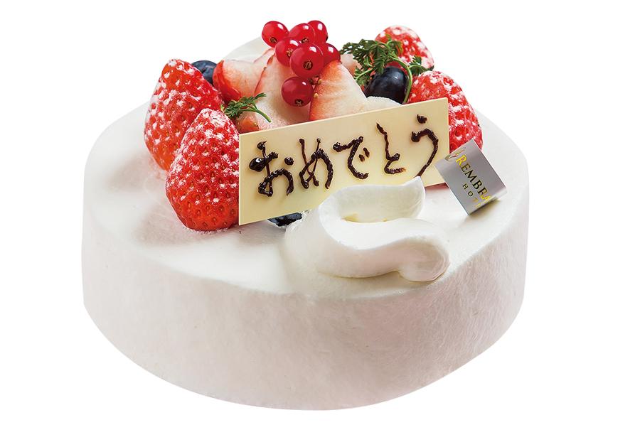 【お祝いケーキ!】<br />九州産純生クリームのパティシエ特製ケーキ!