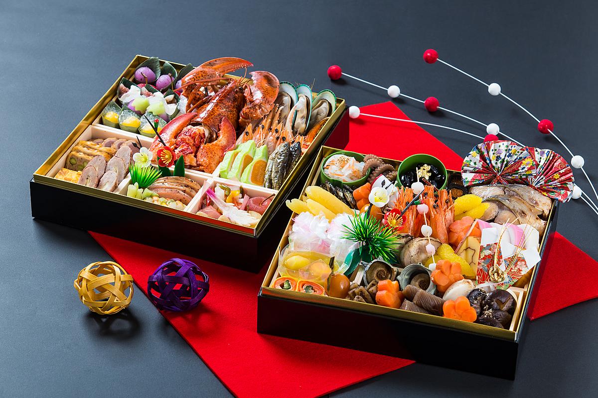 【和食・洋食 慶びの重ね】:和洋折衷二段おせち