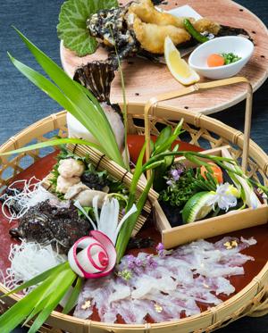 【おこぜ懐石】薄造り、姿揚げに煮付けまで、高級魚おこぜを堪能